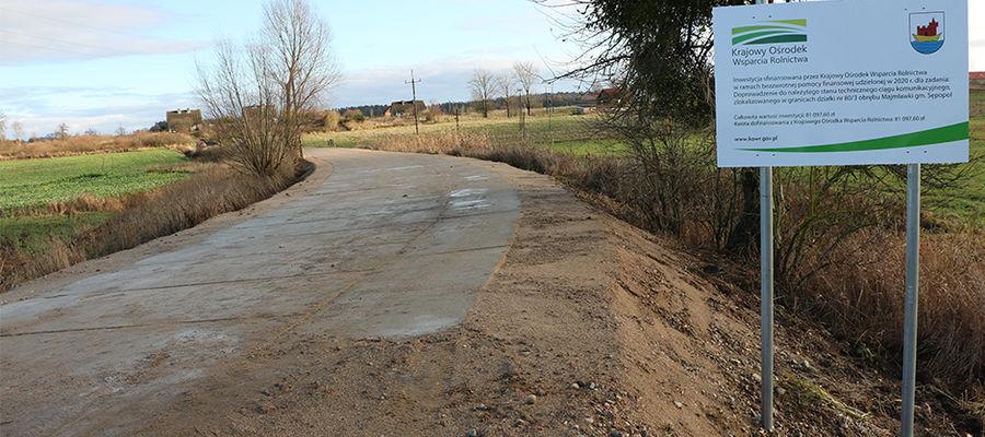 Kolejne środki na drogi trafiły do gminy Sępopol