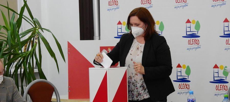 Wioletta Żukowska, wiceprzewodnicząca Rady Miejskiej w Olecku