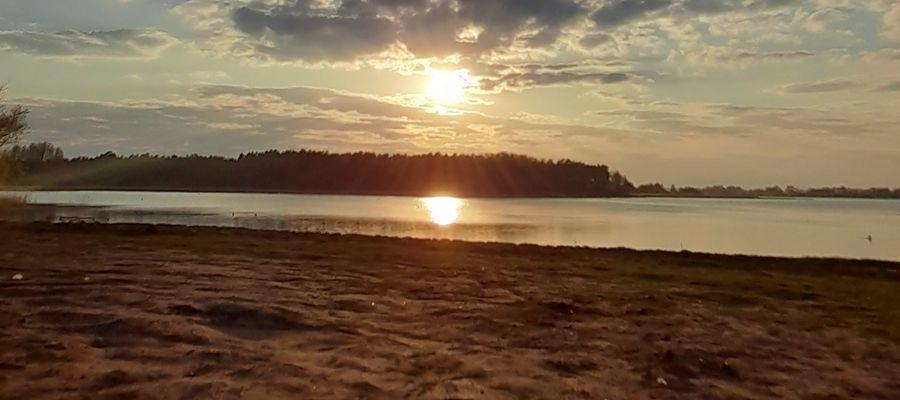 krajobraz,jezioro,słońce