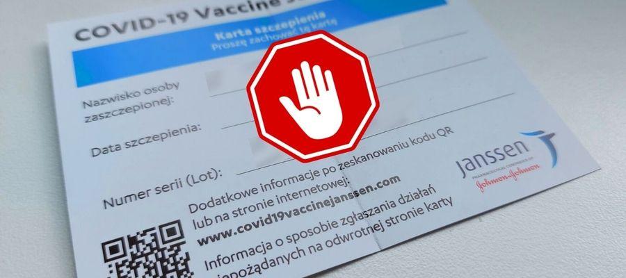 Karta szczepień - nie udostępniaj danych!