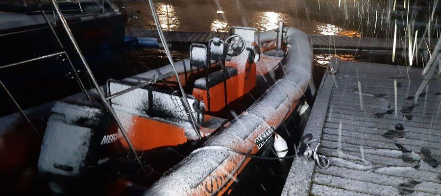 Tak wyglądała jedna z łodzi WOPR-u po powrocie z wezwania