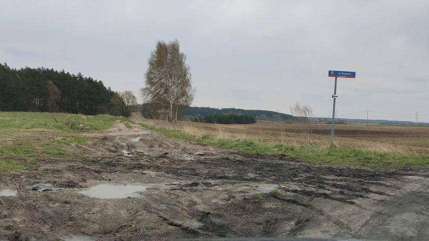 Dziurawa droga mierzy dwa kilometry.