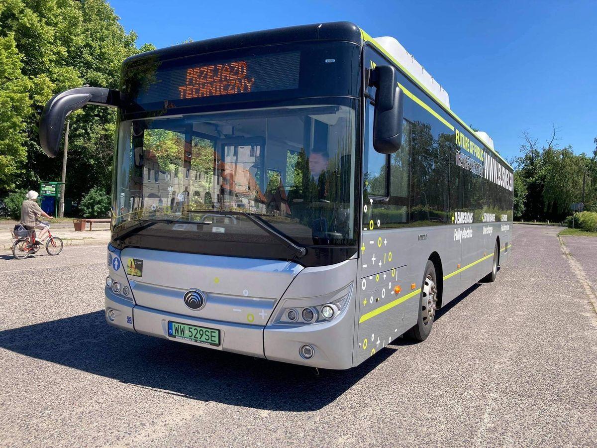 Burmistrz Lidzbarka Warmińskiego wziął wczoraj udział w pierwszych testach autobusów miejskich