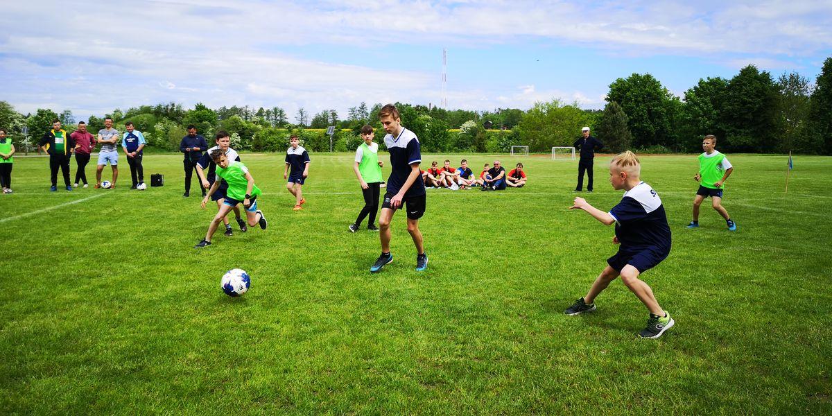 Turniej Piłki Nożnej z okazji Dnia dziecka w Sępopolu