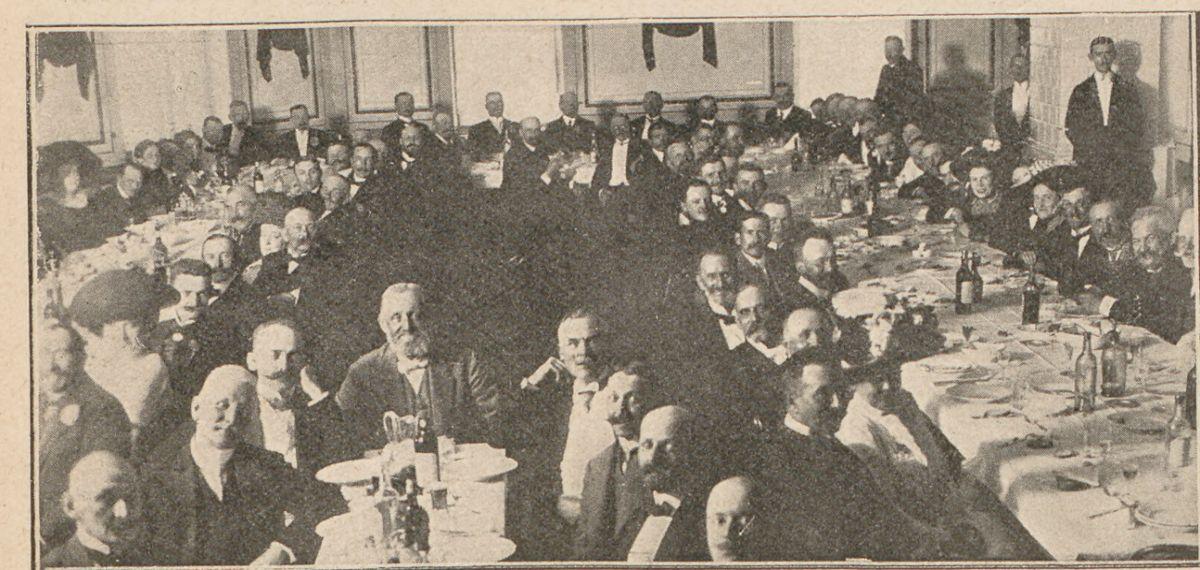 Przyjęcie w sali lutni w dniu otwarcia wystawy rolniczej w Mławie w 1911 roku