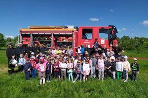 Strażacy z OSP Sępopol odwiedzili przedszkolaków