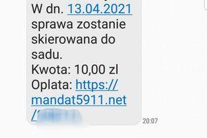 Dostałeś SMS-a o niezapłaconym mandacie? Uważaj to oszustwo!