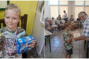 6-letni Dawid Dziodko świetnie zaprezentował się na Mistrzostwach Województwa Juniorów w szachach