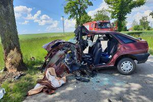 Śmiertelny wypadek w gminie Barciany [ZDJĘCIA]