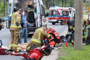 Wypadek na Tuwima. Dwie osoby ranne [ZDJĘCIA,VIDEO]