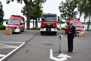 Przekazanie samochodów strażakom z Ostródy, Iławy i Miłakowa