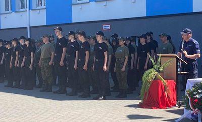Ślubowanie klas mundurowych Akademickiego Centrum Kształcenia w Mławie