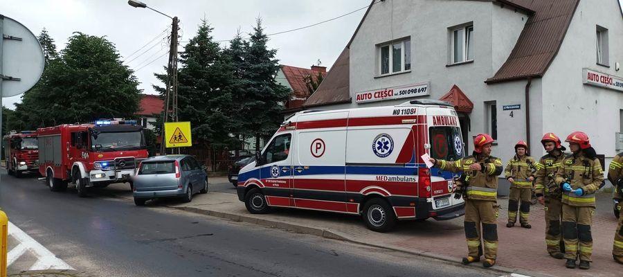Do potrącenia doszło na ulicy Warszawskiej niedaleko Ronda Mazurskiego