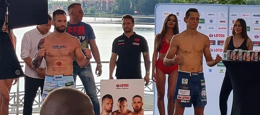 Zdjęcie z wczorajszego ważenia nad jeziorem w Ostródzie, po lewej Kamil Łebkowski, z prawej Patryk Duński