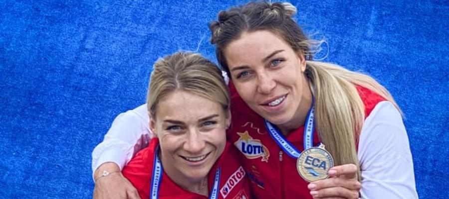 Od lewej Karolina Naja i Anna Puławska (ze srebrem mistrzostw Europy). Czy przywiozą upragniony medal i z Tokio?