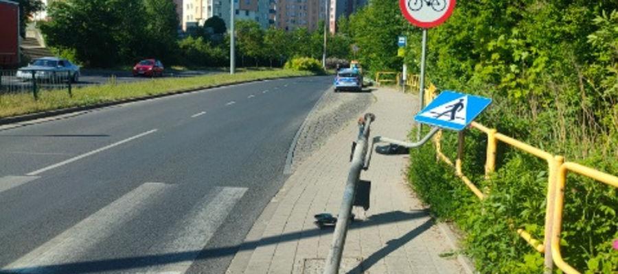 Olsztyn: Wjechała na czerwonym i skasowała sygnalizator