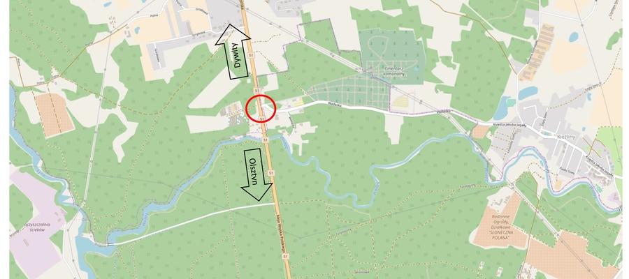 Rondo pozwoli na sprawne włączenie do DK51 ruchu z drogi prowadzącej na cmentarz i do Kieźlin z jednej strony oraz z Osiedla Sterowców z drugiej
