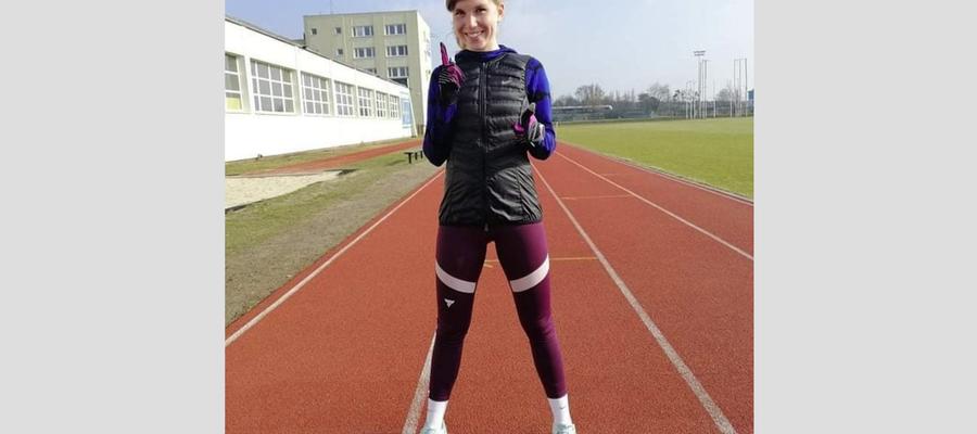 Ola Wantowska podczas treningu na stadionie Zawiszy Bydgoszcz