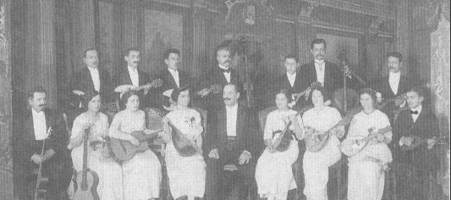 Zespół mandolinistów Lutni-1914 rok