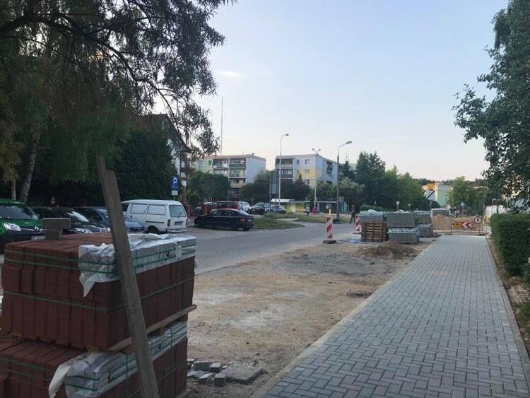 Remont parkingu oraz chodnika  przy ul. Gębika już się rozpoczął