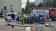 Poważny wypadek w Olsztynie. Dwie osoby w szpitalu