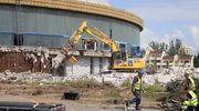 Rozpoczęła się rozbiórka olsztyńskiej hali Urania [ZDJĘCIA]