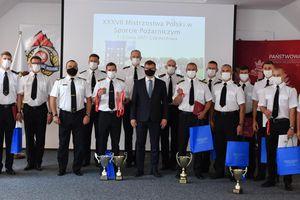 Spotkanie z medalistami XXXVII Mistrzostw Polski w Sporcie Pożarniczym. Wśród nich strażacy z Działdowa