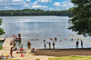 Prenumerata za zdjęcie. Jezioro Skanda w Olsztynie