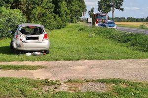 Wypadek na drodze do Grajewa. Dwie osoby w szpitalu