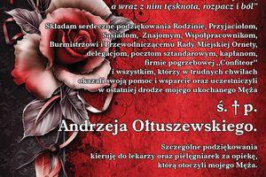 Pożegnanie Andrzeja Ołtuszewskiego