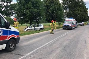 Czteroosobowa rodzina poszkodowana w wypadku w Bramce