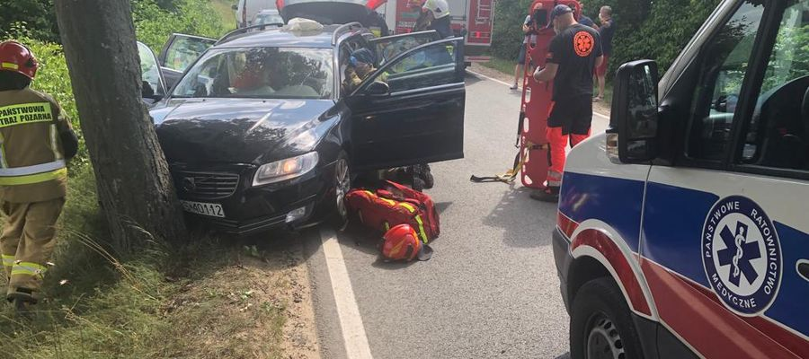 Wypadek na trasie Morąg-Ostróda. Jedna osoba ranna