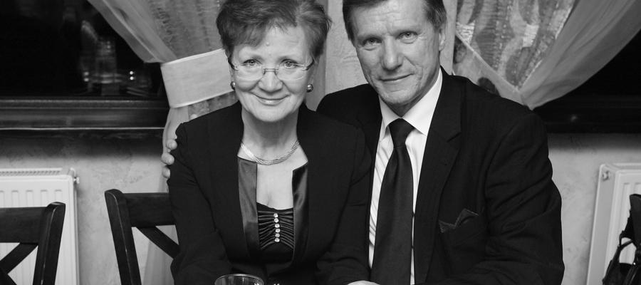 Czesław Jerzy Małkowski z żoną Jadwigą