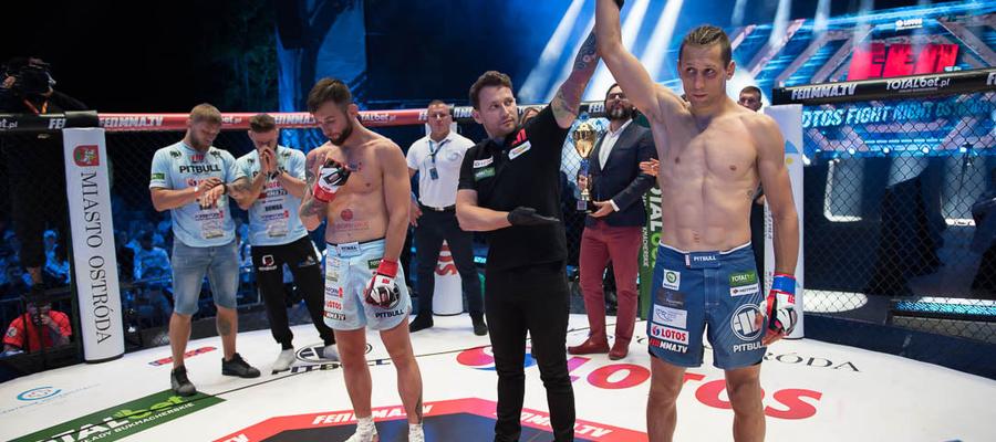 """""""Patryk Duński w spektakularny sposób melduje się w federacji FEN!"""" - podkreślają organizatorzy gali MMA w Ostródzie"""