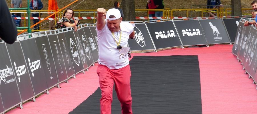 Jarosław Piechotka, tuż przed metą Susz Triathlon 2019