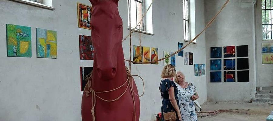 Wystawa sztuki w Bisztynku