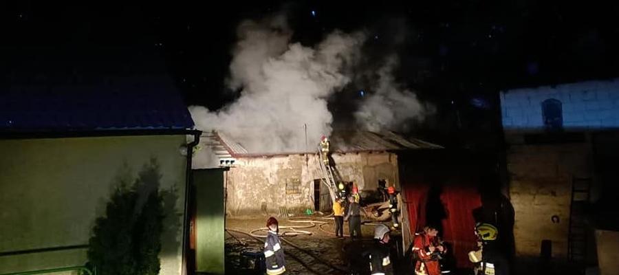 Do pożaru doszło w budynku gospodarczym w Mózgowie (gmina Iława)