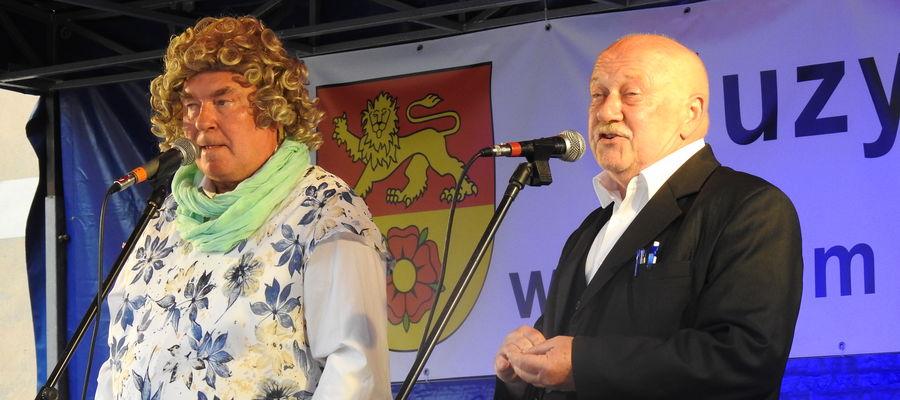Hela i Marian na scenie w Nowym Mieście Lubawskim