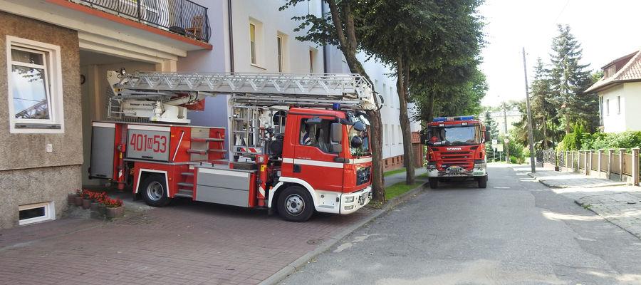 Ewakuacja pensjonariuszy DPS w Bartoszycach