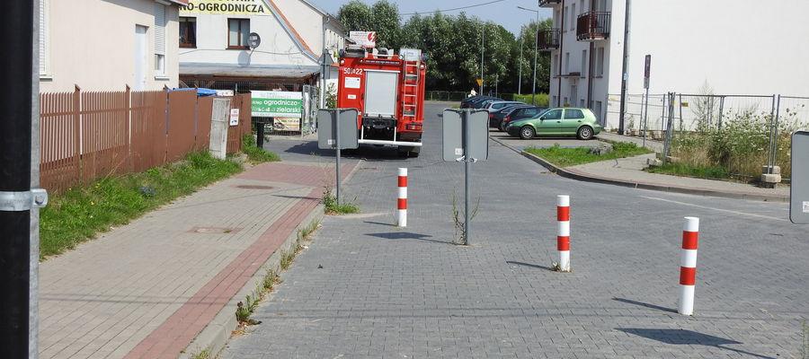 Straż pożarna interweniowała przy ul. Traugutta w Nidzicy