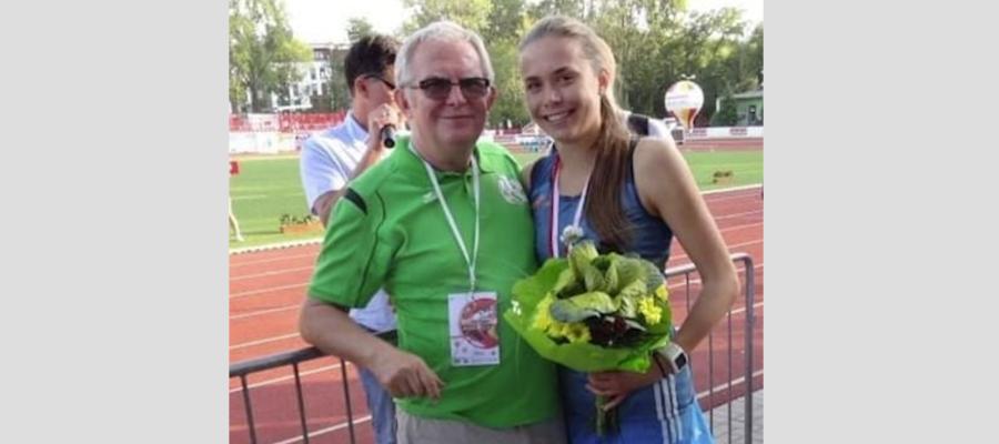 Monika Jackiewicz z trenerem Zbigniewem Ludwichowskim