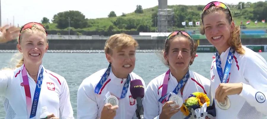 Srebrne medalistki olimpijskie z Tokio w chwilę po telewizyjnym wywiadzie