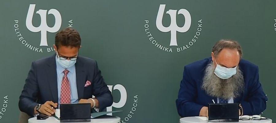Podpisy pod dokumentem złożyli burmistrz Karol Sobczak oraz prorektor ds. rozwoju dr hab. inż. Mirosław Świercz, prof. PB