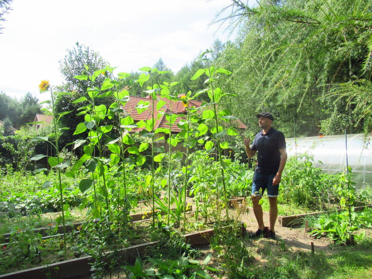 dr Mariusz Antolak, jego ogród w Sząbruku i ukochany pies Nero