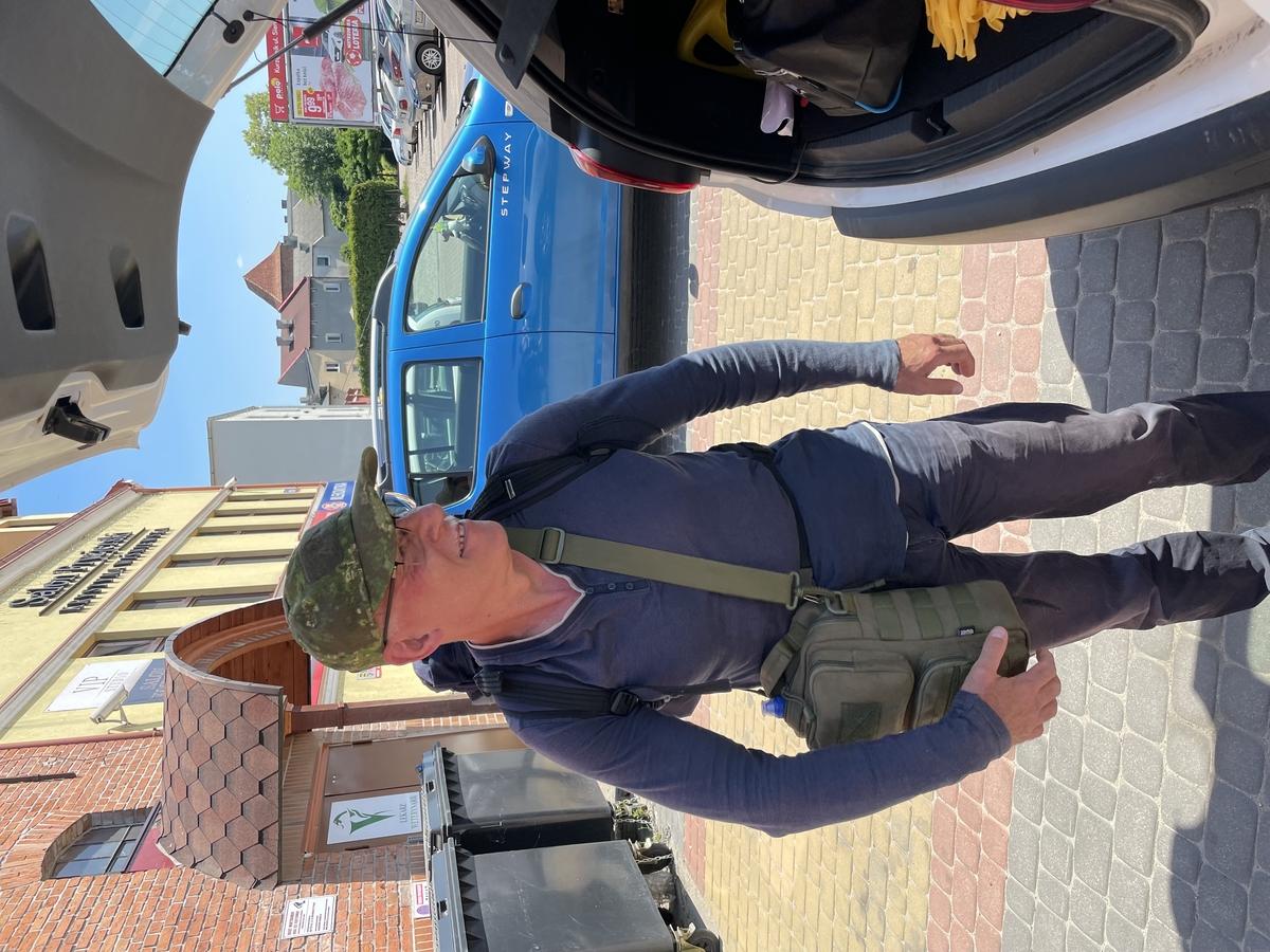 Roman Witt w momencie rozpoczęcia podróży
