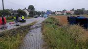Na trasie Działdowo-Lidzbark mercedes uderzył w śmieciarkę. Kierowca zginął na miejscu