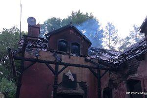 Nocny pożar w Kiersztanowie. Osiem zastępów walczyło z żywiołem [ZDJĘCIA]