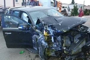 Wypadek na ul. Kwidzyńskiej. Kierowca trafił do szpitala