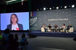 Swiatłana Cichanouska w Olsztynie: Białoruś zasługuje na lepszą przyszłość [ZDJĘCIA]