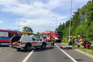 Wypadek pod Olsztynem. Są utrudnienia w ruchu!